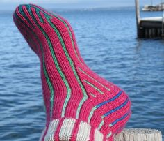 A decadently sumptuous double layer reversible sock: Pinstripe Double-Knit Socks