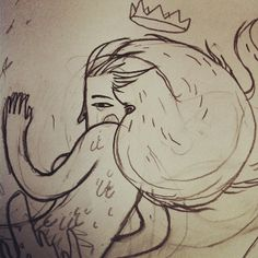 The sailor & the mermaid by Jotaká, via Behance