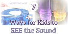 How can sound be waves? It is a hard concept for kids. Try these 7 science experiments for kids to SEE sound. Learn the 5 senses with STEM activities.