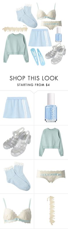"""Untitled #113"" by and-he-shall-be-my-squishy ❤ liked on Polyvore featuring Essie, Topshop, Forever 21 and Amrita Singh"