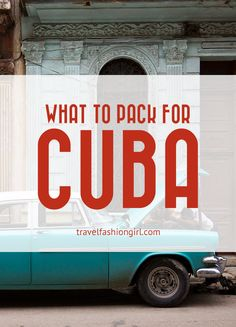 What to Pack for Cuba in Spring and Summer Traveling to Cuba this Spring or Summer? Find out what to pack for Cuba with these helpful tips on clothing and other essentials! Vacation Packing, Packing List For Travel, Travel Checklist, Travel Advice, Travel Tips, Vacation In Cuba, Packing Lists, Vacation Ideas, Cienfuegos