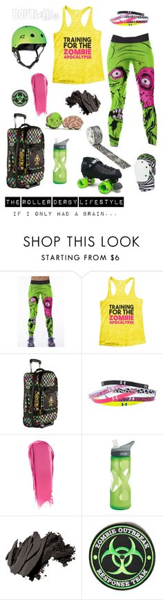Roller derby   Fri-yay Fashion: If I only had a brain... by boutbetties on Polyvore featuring WithChic, Under Armour, NARS Cosmetics, Bobbi Brown Cosmetics and CamelBak