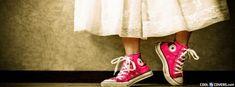 Manual Da Garota Criativa: Semana do facebook: Capas para o facebook: All Star Tenis Converse, Cool Converse, Pink Converse, Converse All Star, Red Chucks, Converse Shoes, Wear Red On Friday, Fb Cover Photos, Timeline Photos