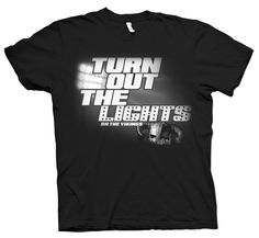 Shirt Kong: #turnoutthelights #vikings #tshirt #screenprinting #team #shirts #blackandwhite #black #whiteink #shirtkong