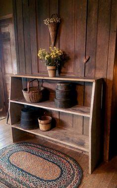 Wood shelf love.