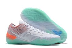 This vibrant Nike Kobe AD NXT 360 White Multicolor comes highlighted with a White Flyknit upper while Multicolor is applied to the heel area.while an orange heel-cap and a translucent emerald green takes over the thin outsole. Basketball Shoes Kobe, Basketball Moves, Basketball Court, Nike Jordan 13, Basket Pas Cher, Kobe Bryant Shoes, Baskets, Retro Jordans 11, Air Jordans
