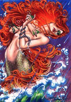 Dawn as a mermaid - Jozef Szekeres