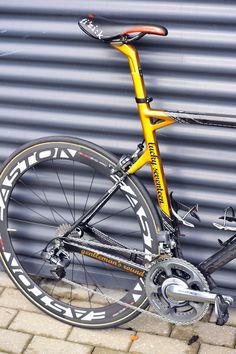 2012 Tour de France - George Hincapie's SLR01  Flashy rear end for Hincapie's Tour machine. Photo: Caley Fretz   VeloNews.com