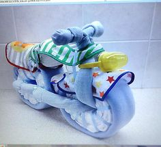 Baby shower nappy cake boy #motorbike/bicycle gift new mum #blanket #unique, View more on the LINK: http://www.zeppy.io/product/gb/2/272158155925/
