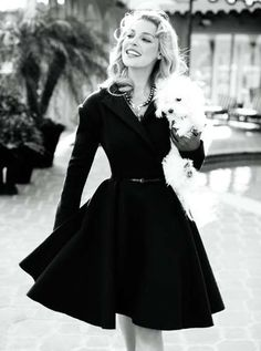 Black Victorian-inspired dress. Love this.