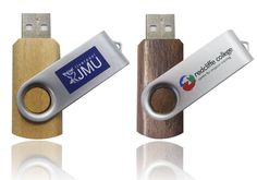 Wooden Twist / Swivel USB. Made from recycled materials!