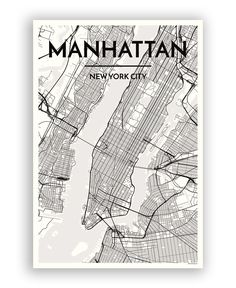 Hand drawn poster of New York in USA. Here you can order the city map of your city and other cities in your country. New York City Map, City Maps, Nova York Poster, Ciudad New York, Manhattan Map, City Map Poster, Map Posters, Map Wall Art, Map Artwork