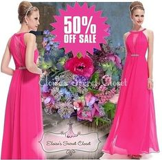 Bnwt orla bead pink raspberry #chiffon maxi prom #evening bridesmaid #dress 6 - 1,  View more on the LINK: 	http://www.zeppy.io/product/gb/2/111471763719/