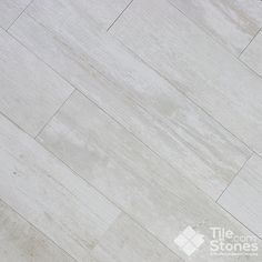 Crate Series Colonial White Wood Plank Porcelain Tile - all bathroom floors and laundry room?
