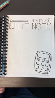 Grade Math Bullet Notes - A Peek Inside - Middle School Math Resources and Activities - Take a look inside Math Bullet Notes! Bullet Notes, Bullet Journal Notes, Life Hacks For School, School Study Tips, High School Tips, School Organization Notes, School Notes, Notebook Organization, School Notebooks