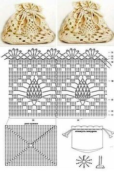 Crochet Pineapple Bag - Free Crochet Diagram - (fotki.yandex)