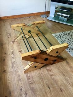 Reclaimed solid oak coffee table