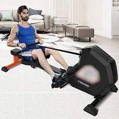 HHJJ Rowing Machine,Magnetic Control Rowing Device,Household Folding Adjustable 8 Level Resistance Paddle Boat,Fitness Equipment Rowing Machine RunningMachine1121 The rowing machine adopts an enhanced s... Rowing Machines, Workout Machines, Fitness Equipment, No Equipment Workout, Paddle Boat, Triangle Design, Healthy Exercise, At Home Gym, Aerobics