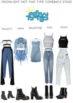 The easiest way to find the perfect outfit Kpop Fashion Outfits, Stage Outfits, Korean Outfits, Dance Outfits, Girl Outfits, Cute Comfy Outfits, Casual Outfits, Korea Dress, Korean Girl Fashion