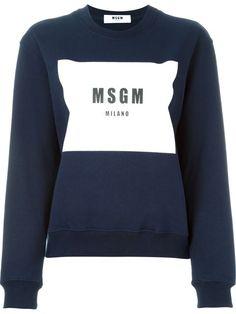 MSGM Logo Print Sweatshirt. #msgm #cloth #sweatshirt