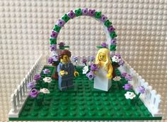 NEW LEGO WEDDING ARCH YELLOW /& WHITE FLOWERS FOR BRIDE AND GROOM MINIFIGURES
