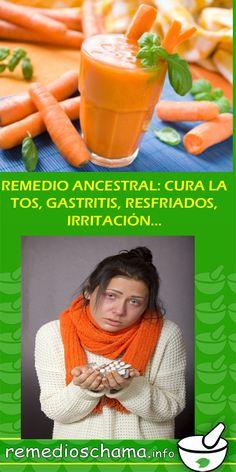 REMEDIO ANCESTRAL: CURA LA TOS, GASTRITIS, RESFRIADOS, IRRITACIÓN… #remedio #ancestral #cura #tos #gripe #flu #gastritis #resfriados #irritacion #casero Home Remedies, Health Tips, First Aid Kid, Beverages, Home Health Remedies, Natural Home Remedies