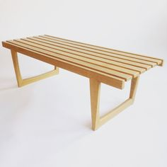Bench Tokyo from Triva for Nordiska Kompaniet. Modern Bench, Mid-century Modern, Vintage Shops, Dining Bench, Scandinavian, Tokyo, Mid Century, Photo And Video, Furniture
