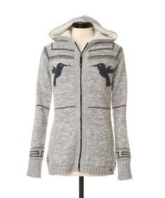 Ready for the Cabin in this zip up! →  Zip Up Bird Cardigan | TRIPLE FIVE SOUL