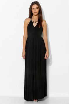 Silence + Noise Knit Strappy-Front Maxi Dress - $40