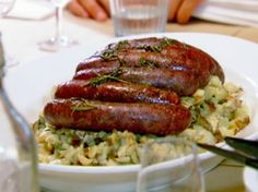 Potato Risotto With Pan-Grilled Lamb Sausages Recipe - Genius Kitchen