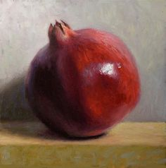"""Pomegranate Original Oil Painting"" - Original Fine Art for Sale - © Debra Becks Cooper"