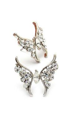Crystal Butterfly Earrings <3