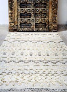 Tapis laine/coton Lusaka ivoire 230x160
