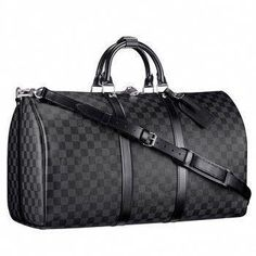 9a06a35337be Louis Vuitton Damier Graphite Canvas Keepall 55 With Shoulder St