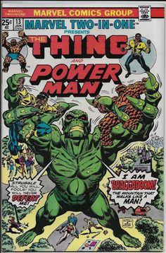 Marvel Two-In-One #13 VF+ 8.5 Marvel 1976 Thing & Power Man vs Braggadoom