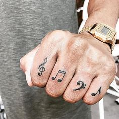 """60 Tattoos of Music, Tattoo, 60 Tattoos of Music ❖❖❖ ❖❖❖ Greek word of origin that means """"art of the muses"""" in allusion to the Greek mythology. By musi. Hand Tattoos, Finger Tattoos, Sexy Tattoos, Unique Tattoos, Tattoos For Guys, Sleeve Tattoos, Tattoos For Women, Tatoos, Dj Tattoo"""