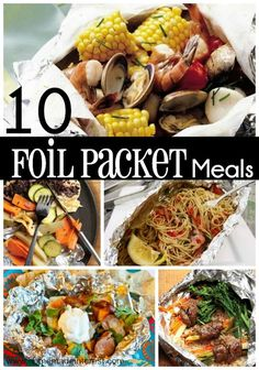 Camping Hacks Discover 10 Easy Foil Packet Meals for the Family Foil Packet meals are a simple way to cook dinner on the grill in the oven or over a campfire. Foil Packet recipes are super easy and you can cook almost anything! Foil Pack Meals, Foil Dinners, Tin Foil Meals, Grilling Recipes, Cooking Recipes, Healthy Recipes, Meal Recipes, Weeknight Recipes, Grilling Ideas