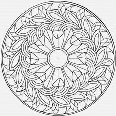 This advanced Mandala coloring sheet is a fun design and quite challenging to color. Mandala 4 coloring page can be decorated online with the . Coloring Pages For Teenagers, Cool Coloring Pages, Mandala Coloring Pages, Free Printable Coloring Pages, Adult Coloring Pages, Coloring Pages For Kids, Coloring Books, Kids Coloring, Coloring Sheets