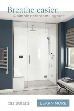 How regular sessions in a steam room help clear the mind and rejuvenate the body. Lake House Bathroom, Hall Bathroom, Master Bathroom, Washroom, Bathroom Ideas, Shower Plumbing, Master Bath Remodel, Vintage Bathrooms, New House Plans