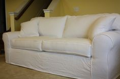 Delicieux White Denim Slipcovered Sofa From Twill Slipcover Studio