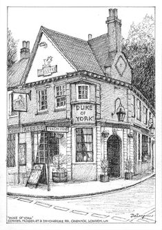 London Drawing, House Colouring Pages, Pen And Wash, Arches Paper, Duke Of York, Australian Artists, Buy Art, Paper Art