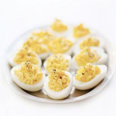 Truffled Deviled Eggs with Crème Fraîche | Lonny.com
