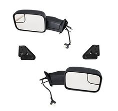 POWERED+HEAT FOLDABLE REAR VIEW TOWING SIDE MIRROR FOR 94-97 DODGE RAM 1500-3500