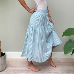 Lollys Laundry  Blue&white cotton skirt €85,- Info@untitled-haarlem.nl #lollyslaundry #skirt #SS19 Cotton Skirt, White Cotton, Midi Skirt, Laundry, Blue And White, Boutique, Skirts, Fashion, Laundry Room