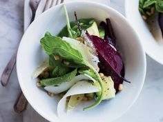 Beet, Avocado and Arugula Salad | Nancy Oakes's beet, avocado and arugula salad is both hearty and light, with a bracing lemon dressing.