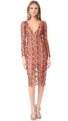 For Love & Lemons Amelia Textured Midi Dress