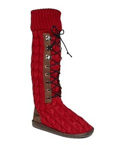 Muk Luks® Shoes, Cable Knit Lace-Up Boots