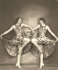 dancers of the Follies Bergere. Late 1920s.