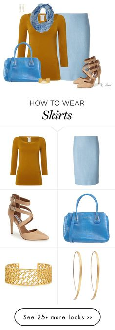 """""""Pencil Skirt & Scarf"""" by ksims-1 on Polyvore featuring Ermanno Scervino, Wolford, Sayami, Steve Madden, Cromia, Tory Burch and Witchery"""