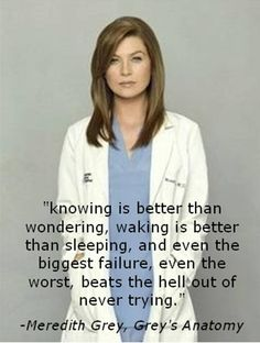 Grey's Anatomy Quote: not a die hard Grey's fan but this hits the nail on the head